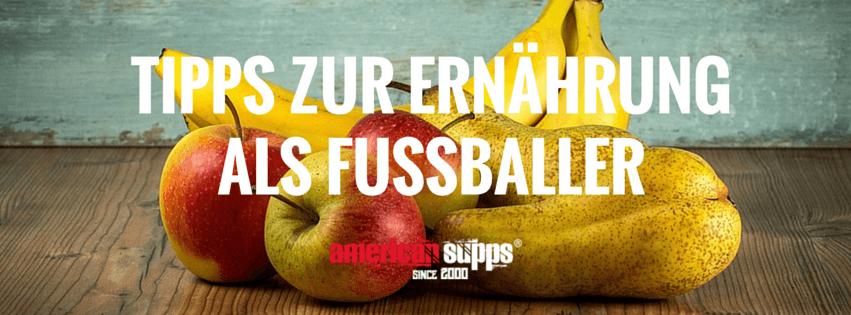 ernährungsplan fußballprofi richtige ernährung fußballer