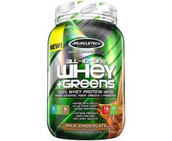 Muscletech All-in-One Whey + Greens - 907 g