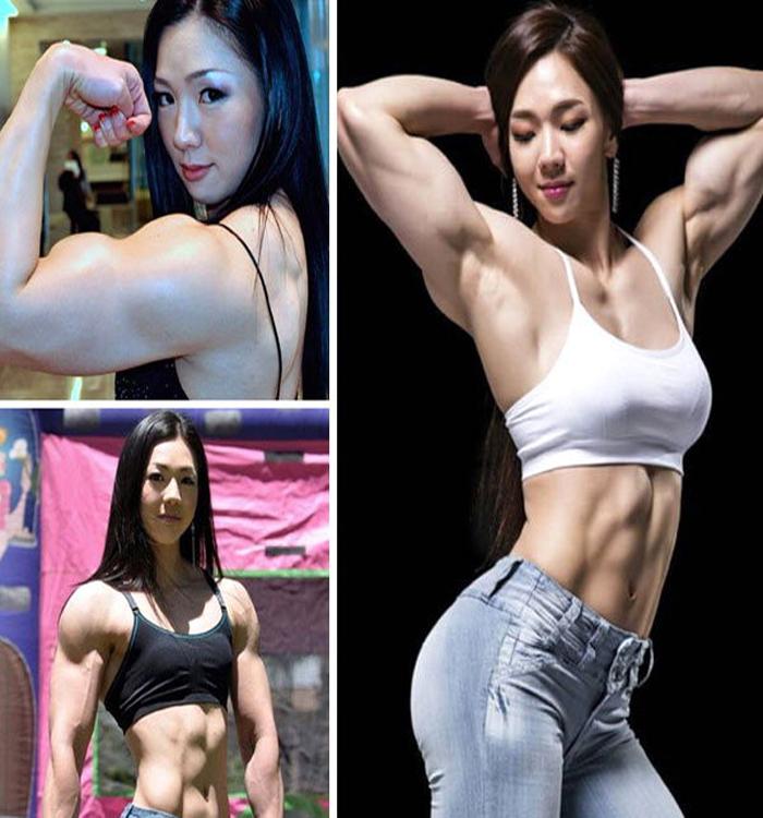 yeon woo jhi sexy korean barbie iffb bodybuilder