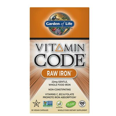 Garden of Life Vitamin Code Raw Iron 30 Capsules