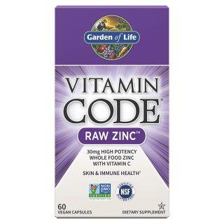 Garden of Life Vitamin Code Raw Zinc - 60 Capsules ...