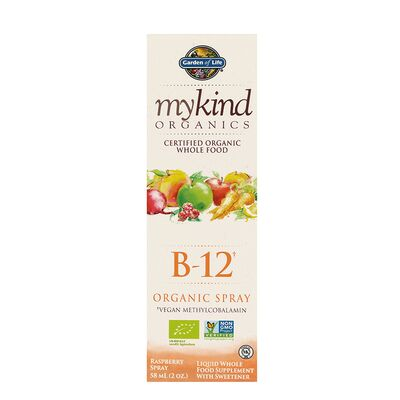 Garden of Life mykind Organics B-12 Spray - 58 ml Raspberry