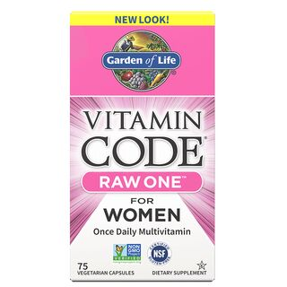 Garden of Life Vitamin Code Raw One for Women - 75 Capsules