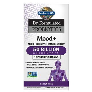 Garden of Life Dr. Formulated Probiotics Mood+ 50 Billion...