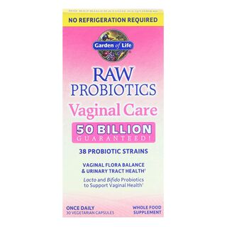 Garden of Life RAW Probiotics Vaginal Care 50 Billion CFU - 30 Capsules