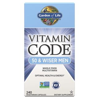 Garden of Life Vitamin Code 50 & Wiser Men - 240 Kapseln