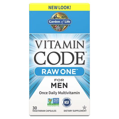 Garden of Life Vitamin Code Raw One for Men - 30 Capsules