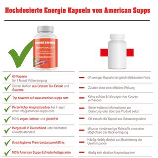 American Supps Energie Booster - 60 Kapseln