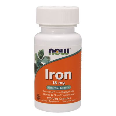 NOW Foods Iron 18mg - 120 Capsule