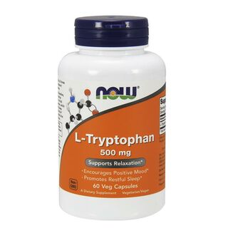 NOW Foods L-Tryptophan 500mg - 60 Kapseln
