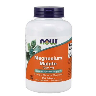 NOW Foods Magnesium Malate 1000mg - 180 Compresse