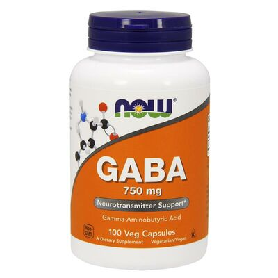 NOW Foods GABA 750mg - 100 Capsules