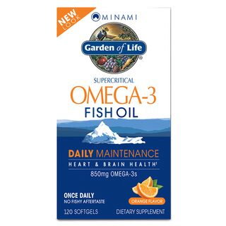 Garden of Life Minami Daily Maintenance Omega-3 Fish Oil - 120 Kapseln