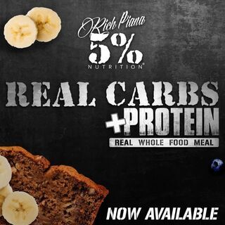 Rich Piana Real Carbs + Protein by 5% Nutrition 1430g Chocolate