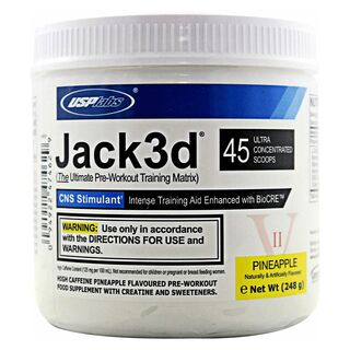 USP Labs Jack3d Pre Workout 248 g Lemon Lime