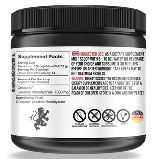 Undisputed Laboratories Creapure® Creatine Monohydrate 1000 g