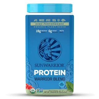 Sunwarrior Warrior Blend Raw Protein - 750 g Erbsen-, Goji- & Hanfprotein Natural