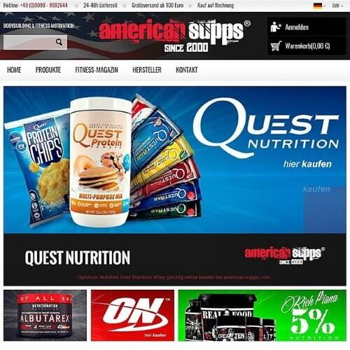 American Supps, günstig Supplements kaufen! Pre Workouts online bestellen